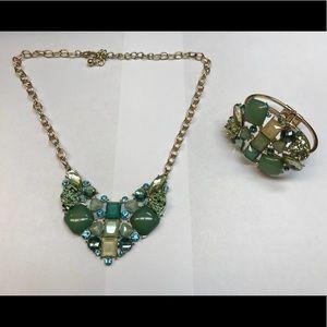 Jewelry - Jeweled necklace and bracelet